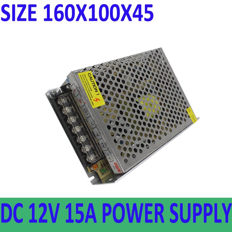 12V 15A 180W 110V-220V Lighting Transformers Driver for LED strip power supply(China (Mainland))