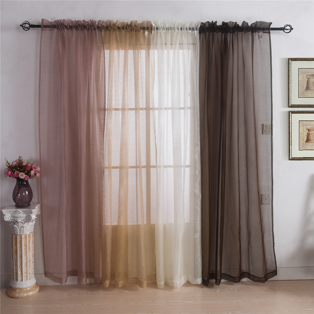 "Classic curtains 54"" x 88"" Hight quality sheer tulle curtains for living room and bedroom(China (Mainland))"