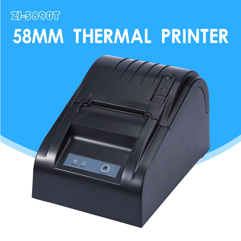 ZJ-5890T pos printer High quality 80mm thermal printer receipt Small ticket barcode printer automatic cutting machine printer(China (Mainland))