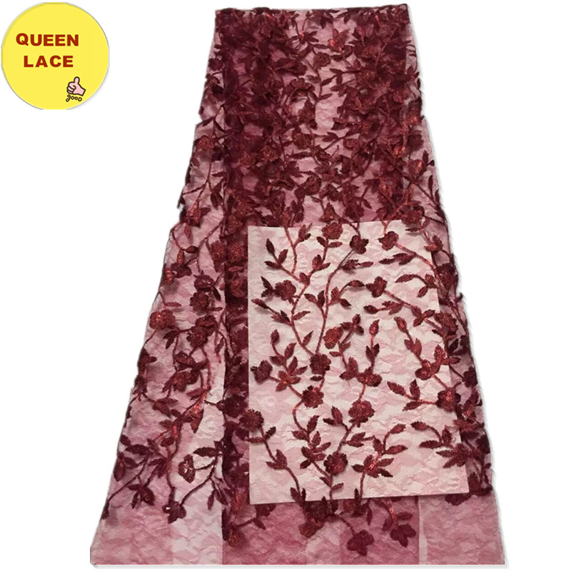 2016 High Quality French Net Laces Bridal Lace Trim African Tulle French Lace For Party Dress Queen Lace(China (Mainland))