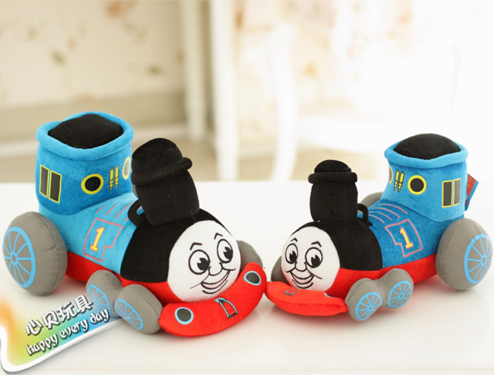 The 35cm lovely Thomas small train Thomas cartoon plush doll a children's Day gift plush toys and gifts(China (Mainland))