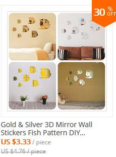 3D Mirror Acrylic Wall Stickers English Letters Alphabet Decal Art Mural Wall Sticker DIY Home Decor