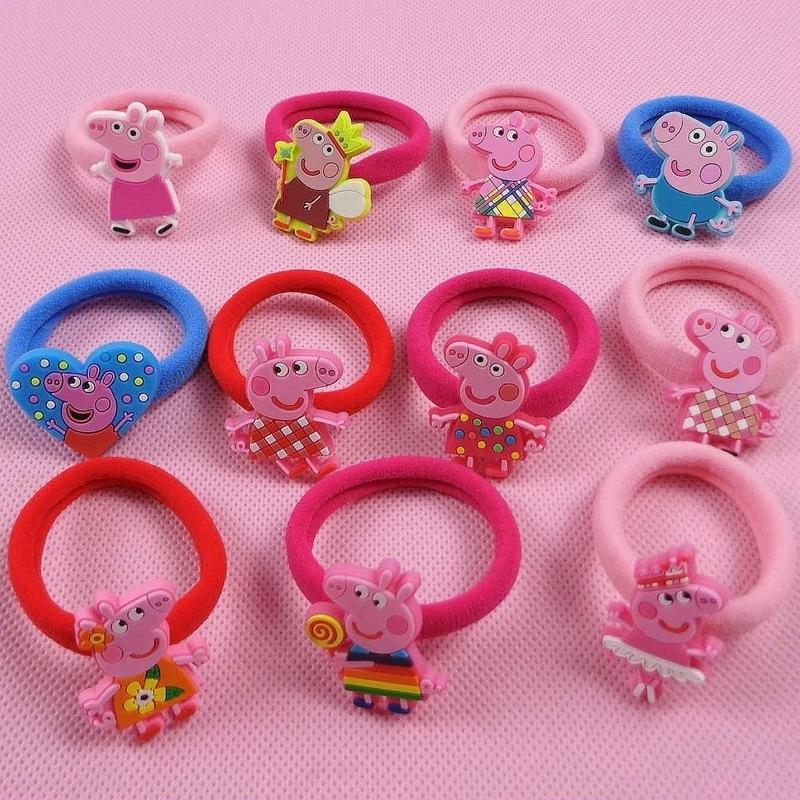 ONE PAIR PRICE peppa pig Hair band Headwear Girl Hair accessories KIDS Girl Christmas Gift(China (Mainland))