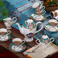 European wind high-class bone china coffee cup set coffee cup and saucer set ceramic tea sets coffee sets