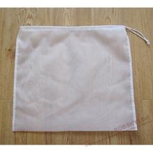 2pcs/lot- 48*45cm food grade fruit wine milk filtering pouch nylon cloth liquid filter bag (China (Mainland))