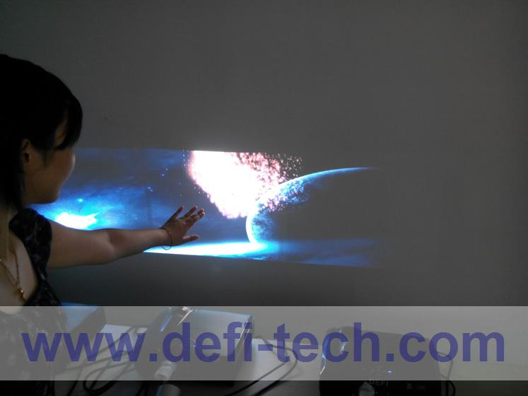 DEFI Triple screen Interactive floor system support 3 projectors with 12 effects now(China (Mainland))