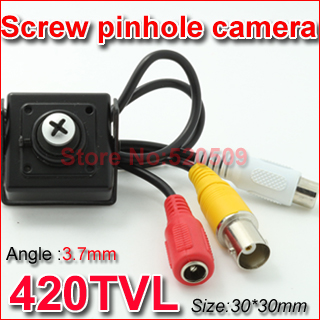 Free Shipping! 3.6mm Screws Lens Mini Pinhole 600TVL CCD SONY Surveillance Color CCTV Mini Camera,With audio(China (Mainland))