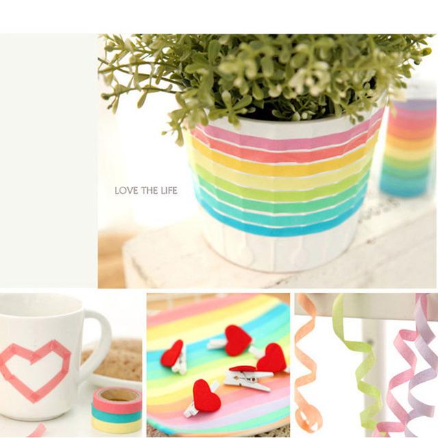 Rainbow Roll Washi Tape (10 Pcs/Set)