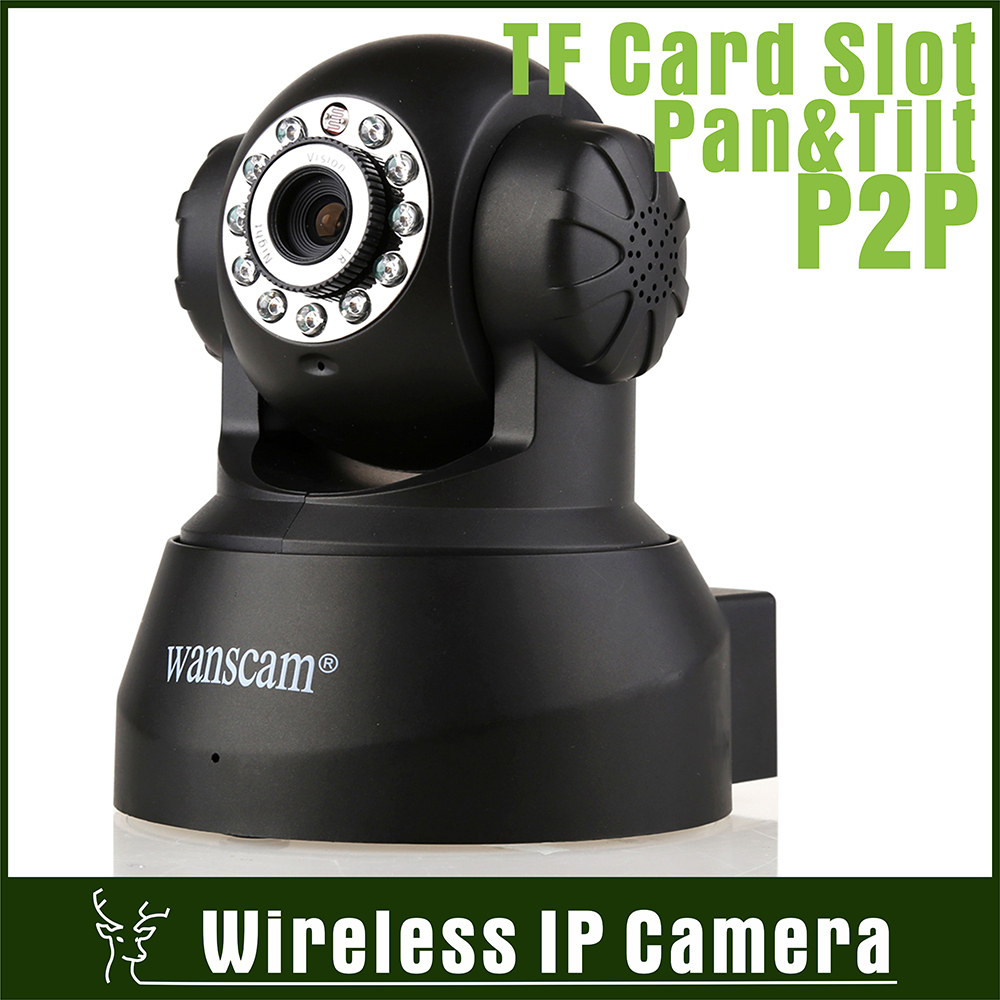 32G TF Card P2P Wired Wireless Wifi Network Night Vision Pan Tilt Dual Audio Recordable Baby Monitor Webcam IP Internet Camera(China (Mainland))