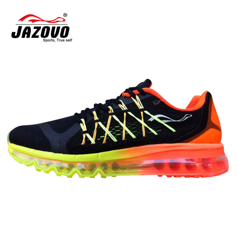 Jazovo Man Running Shoes For Best Trends Run Athletic Trainers Green Zapatillas Sports Shoe Cushion Outdoor Walking Sneakers max(China (Mainland))