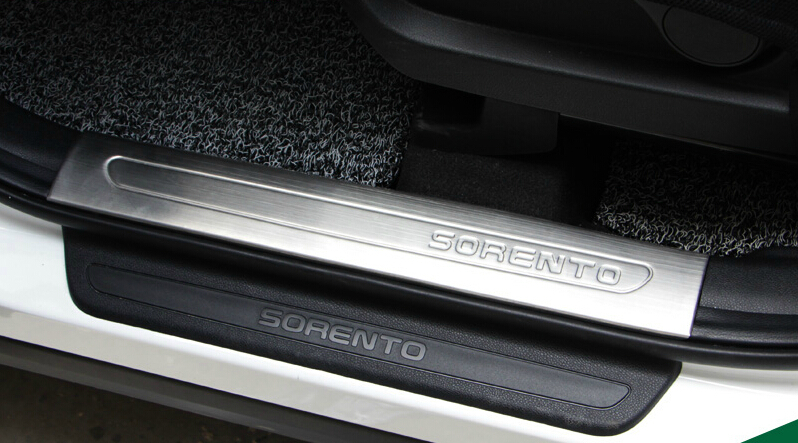 Auto interior  scuff plate  for KIA Sorento 2015,4pcs/lot,stainless steel,free shipping<br><br>Aliexpress