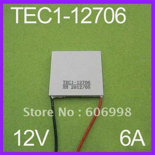 2 Pcs/Lot TEC1-12706 12V 6A TEC Thermoelectric Cooler Peltier Refrigeration CPU FreeShipping Dropshipping(China (Mainland))