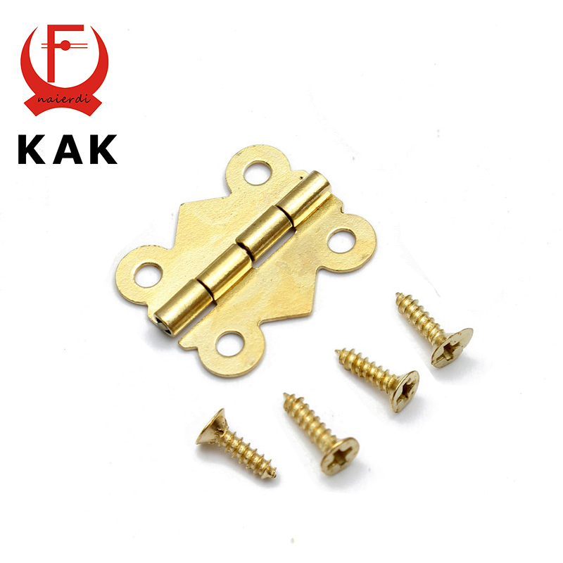 10pcs KAK 20mm x17mm Bronze Gold Silver Mini Butterfly Door Hinges Cabinet Drawer Jewellery Box Hinge For Furniture Hardware(China (Mainland))