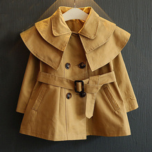 wholesale(5pcs/lot)- 2016 spring autumn all match trech jacket for age 2-7 child girl
