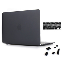 Fashion Matte Protective Sleeve Hard Cover Case for Apple MacBook Pro 13 15 With Retina Air 11 12 inch Black