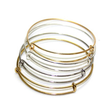 Wholesale Lot 10Pcs 2016 Hot Sale USA Cable Wire Expandable Bracelets Bangles Women Jewelry DIY(China (Mainland))