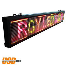 Led Sign 40 x 6.3inches RGY COLOR MOVING TEXT MESSAGE 2016 NEW PRODUCT USB Programmable  INDOOR LED BILLBOARD FOR SALE(China (Mainland))