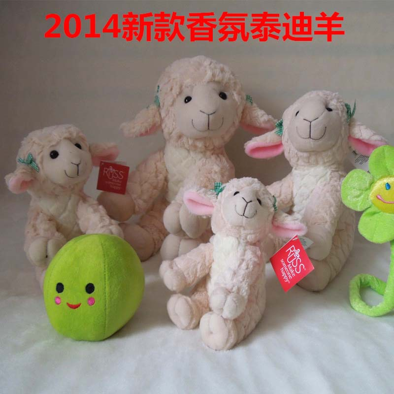 Free shipping sheep plush toy teddy sheep soft stuffed doll now arrived 20cm 15piece/lot(China (Mainland))