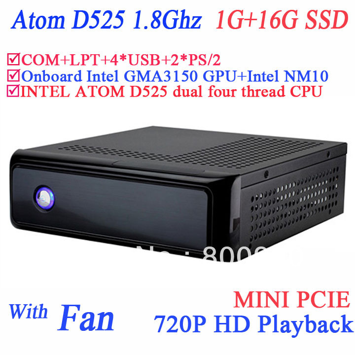 Dual Core mini itx thin clients with PXE RPL boot 1G RAM 16G SSD Windows XP embeded Intel GMA3150 graphics core intel NM10 chip(China (Mainland))