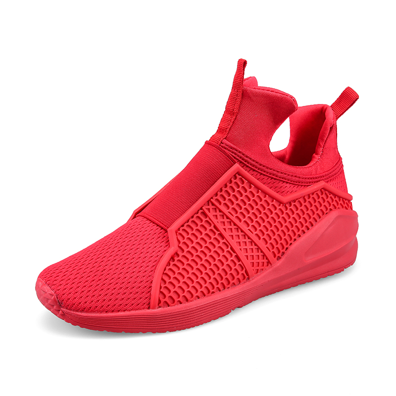 High Quality Slip-On Men Shoes Tenis Mens High Tops Shoes Sales Summer Casual Shoes Men Basket Shoe Breathable Red Black White(China (Mainland))