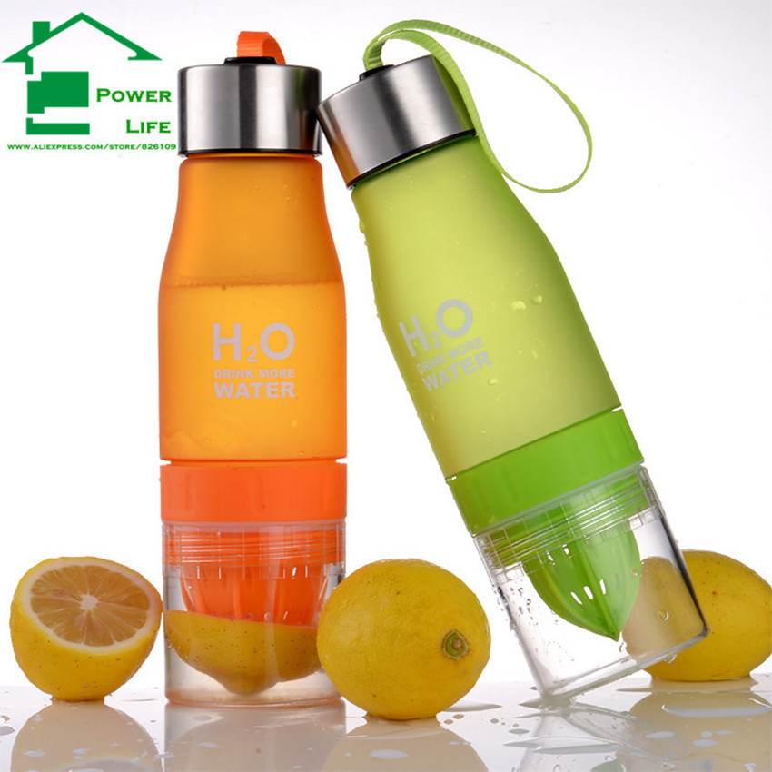 Powerlife 680ML Fruit Lemon Juicer Infuser my drinking water plastic bottles 500 ml whey protein shaker sports watter bottle  (China (Mainland))