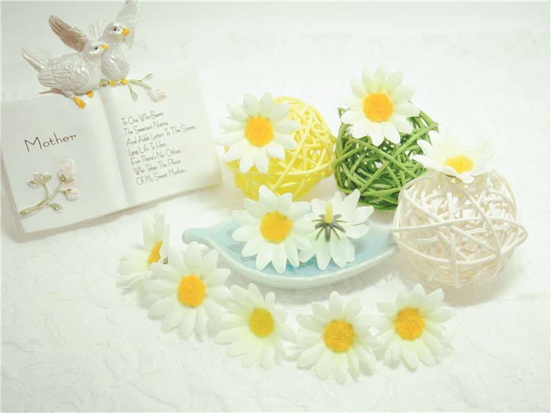 10pcs lot 4cm Gift Artificial Mini Coloth Sunflower Bouquet artificial flowers for wedding car home decoration