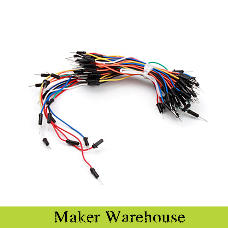 Гаджет  Free Shipping Electronics DIY Solder-less Flexible Breadboard Jumper Cable Wires 65Pcs None Электронные компоненты и материалы