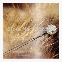 fashion hot new special personalized wire cloth ball pendant necklaces jewelery accessories crystal shop free shipping