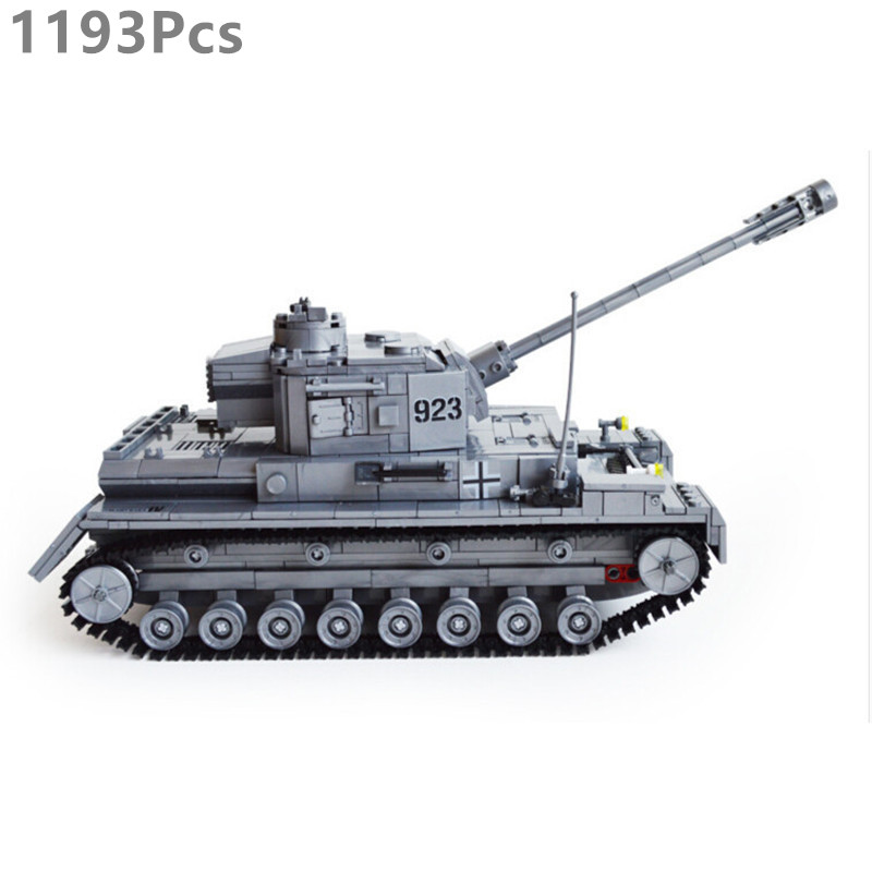 Military Building Block Set Compatible lego Tank German armored tank 3D Construction Brick Educational Hobbies Toys Kid