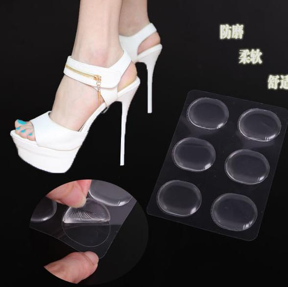 12pcs lot silicone support shoe pad high heel gel insoles