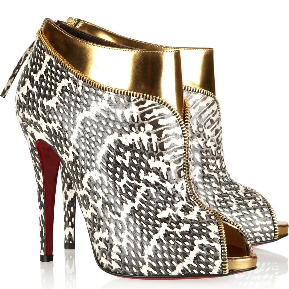 Gold Bottom Heels