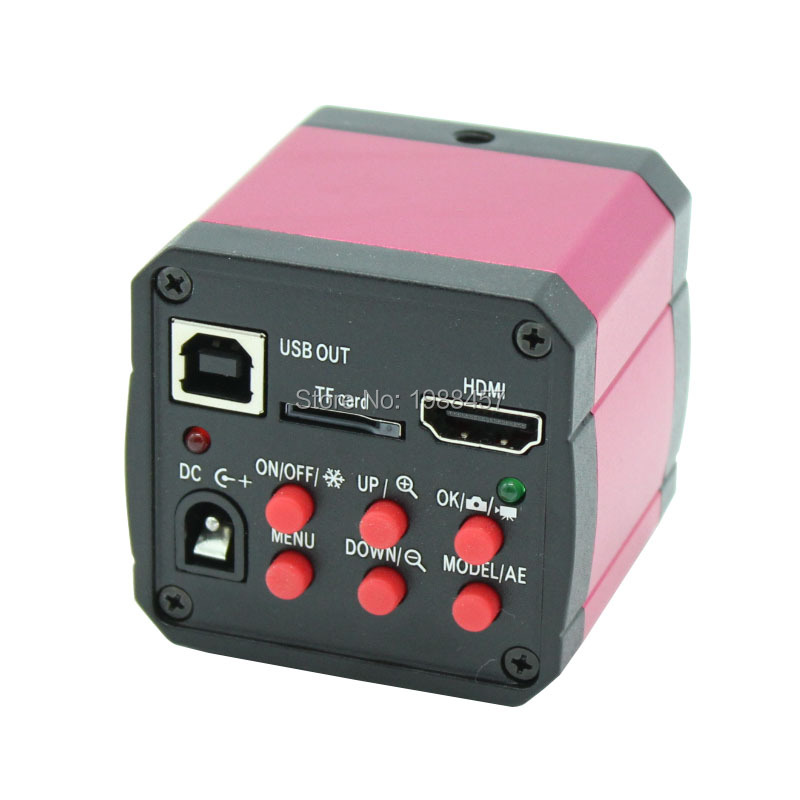 Free shipping 14MP HDMI +USB Digital Industry Video Microscope Camera +TF card 30fps camera Industry PCB Lab Microscope using(China (Mainland))