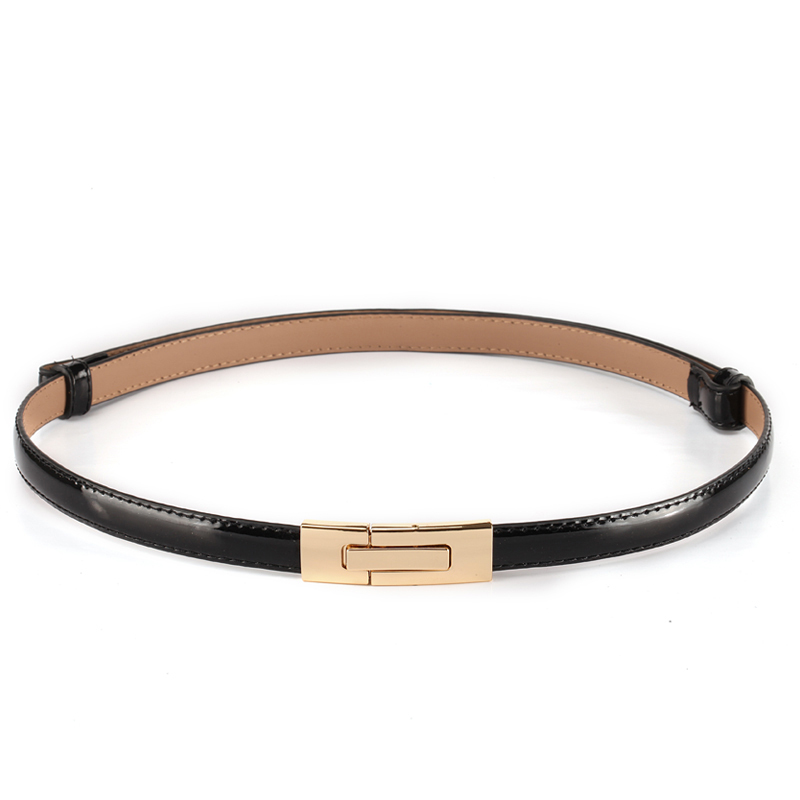 2017 Fashion brand 100% genuine leather women belt metal Pin buckle Vintage belts for women Color Black White red sapphire