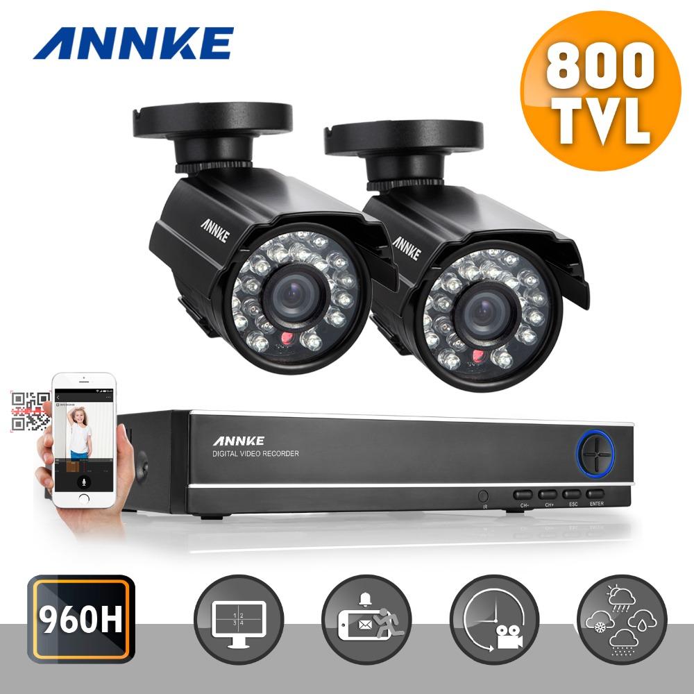 ANNKE 4CH 960H HDMI CCTV DVR kits 2pcs 800TVL IR CUT Outdoor surveillance camera Home Security System(China (Mainland))