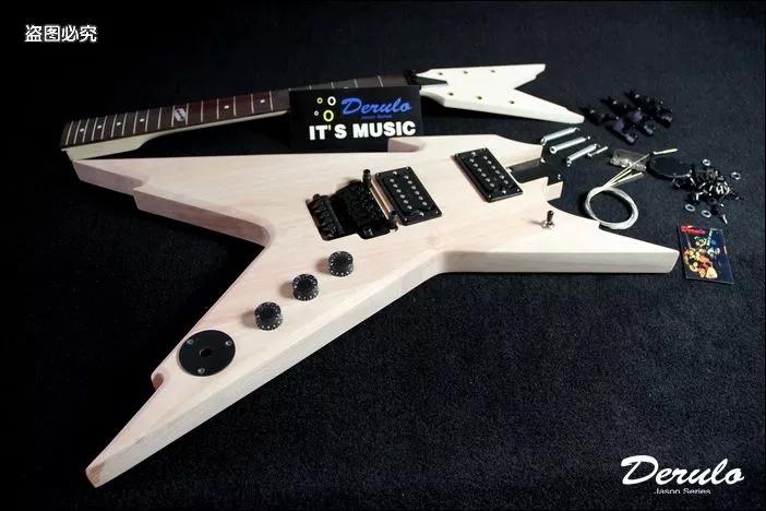 DIY Electric Guitar Kit Solid Mahogany Body Maple Neck Unfinished MX-020(China (Mainland))