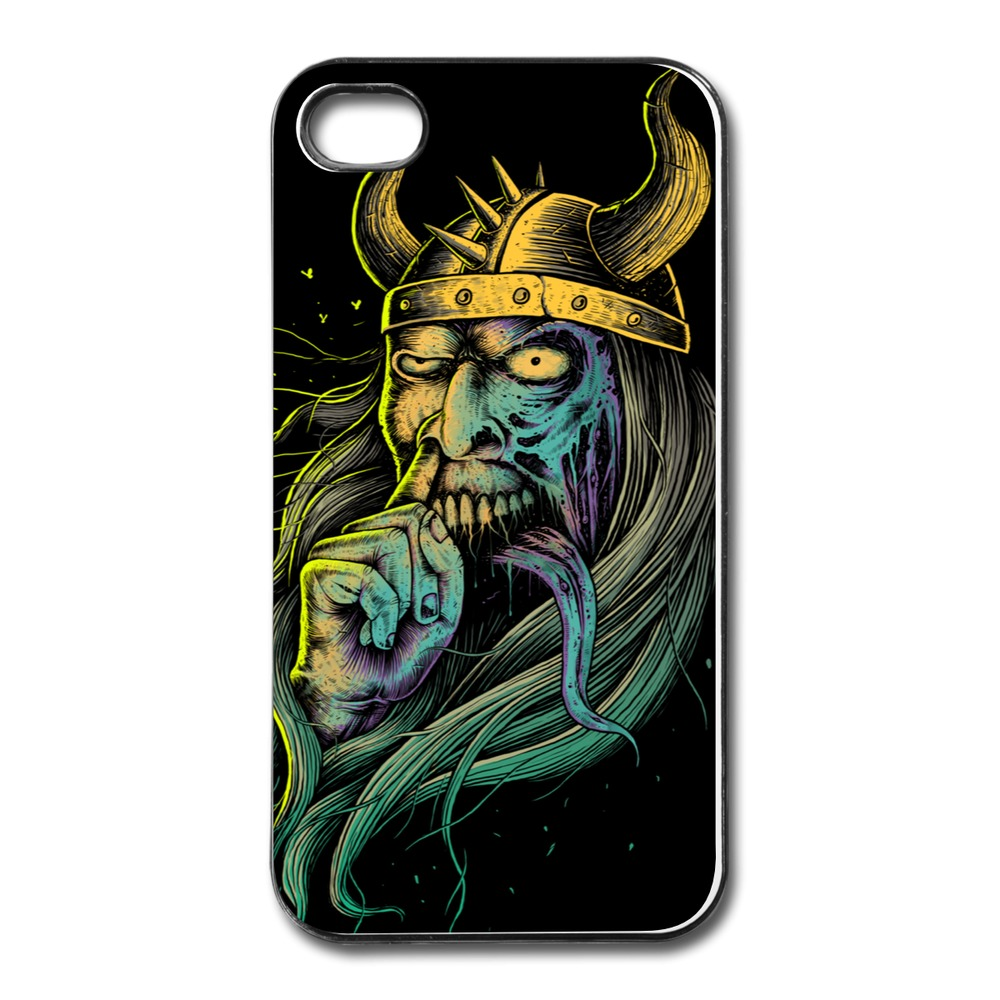 High Quality Custom Cover For Iphone 4 The Viking Custom Your Own 4 4s Covers With Art Logo(China (Mainland))
