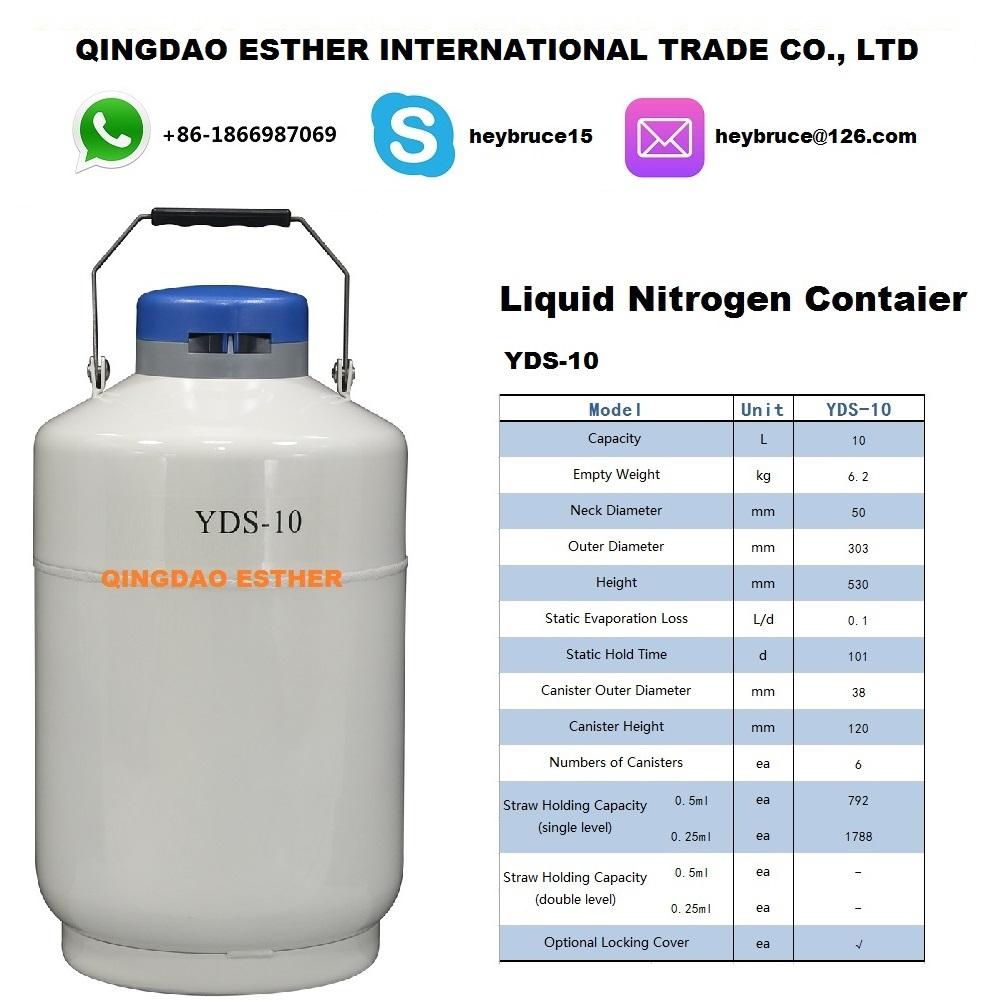 meilleure qualit azote liquide container yds 10 dans cylindres gaz de industrie affaires. Black Bedroom Furniture Sets. Home Design Ideas