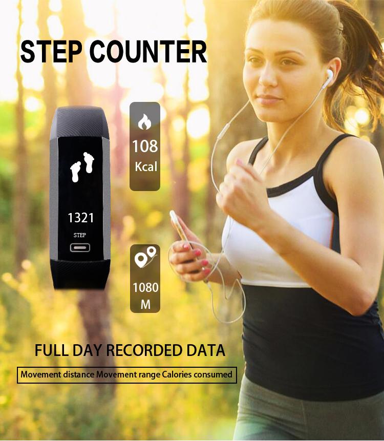 image for Original TEZER R5 PRO Smart Wrist Band Heartrate Blood Pressure Oxygen