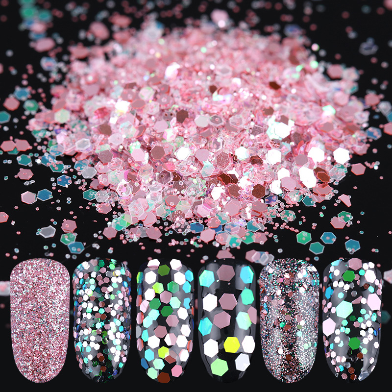 10ml/Box Glitter Powder Sheets Tips Ultrafine Powder 1mm/2mm/3m Sequins Mixed Nail Art Decoration