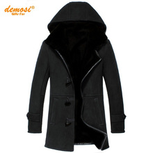 Factory direct delivery 100% natural fur sheepskin coat Genuine Leather coat cold female Men  2016 winter new thicker fur Hooded(China (Mainland))
