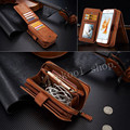Luxury Business Style Zipper Wallet Style Mobile Phone Bag Cover Card Holder Vintage Leather Case For