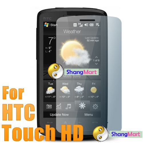 Free shipping: LCD Screen Protector Guard Film for HTC Touch HD T8282 wholesale(China (Mainland))