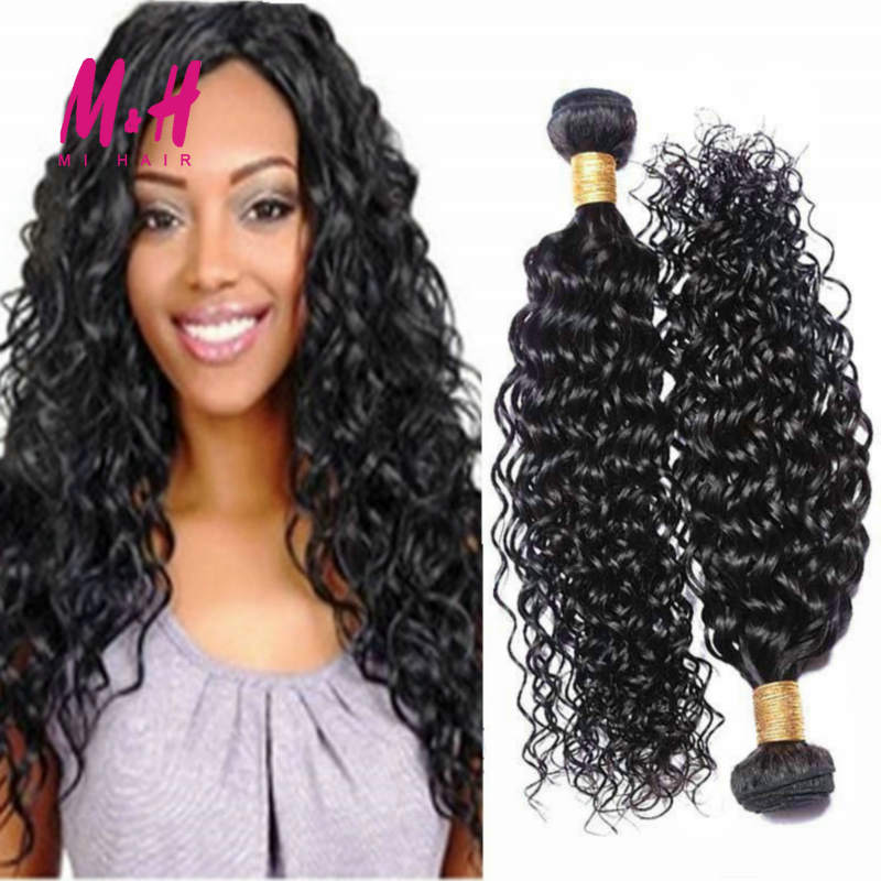 Brazilian Virgin Hair Water Wave 3Pcs Lot Brazilian Hair Weave Bundles Wet And Wavy Virgin Brazilian Curly Human Hair Extensions