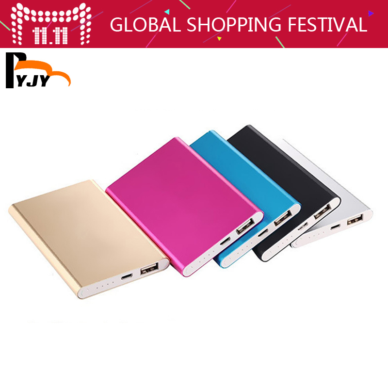 BYJY NEW Metal Slim Power Bank 5000mAh USB External Backup Battery Portable Charger PowerBank For Universal SmartPhone(China (Mainland))