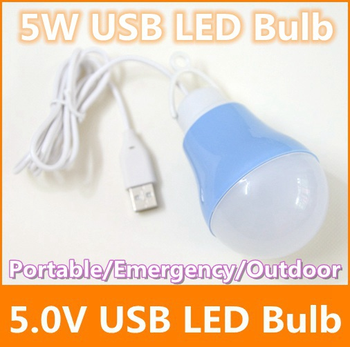 5W 5730 SMD led bulb 5V USB Portable use plug power bank lamp White Outdoor travel camping emergency light - Tomtop supermarket store