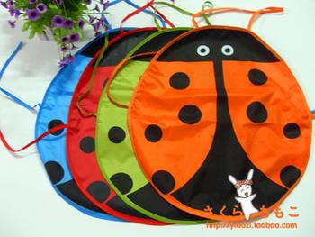 5PCS/LOT 5 colors Cute Ladybug Kids Kitchen Garden Fabric Craft Apron Lovely Child Pinafore