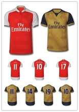 Top Quality 15 16 OZIL Jersey Alexis football shirts 2016 WELBECK soccer Jerseys RAMSEY Home Red Away golden 3rd Blue(China (Mainland))
