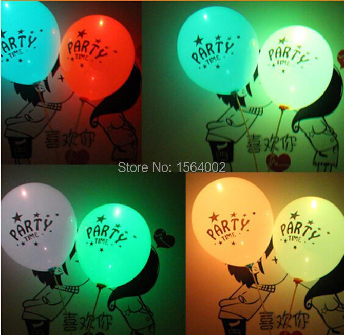 LED Light Flashing Balloons,Night glow balloon,Festival Balloons,Wedding,Celebration,Party,Big events 5 Colour 200pcs/Lot(China (Mainland))