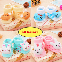 1 Pair New Cute Baby Socks Newborn Animal Cartoon Doll 3D Infant Supplies Model Anti-slip Boys Girls Cotton Floor Sock tyh-20419