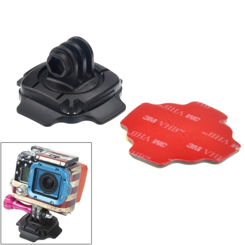 360 Degree Adjust Helmet Mount Adapter 3M Sticker Gopro Hero 4 / 3+ 3 2 1 (ST-115) - Shenzhen PULUZ Technology Co., Ltd store